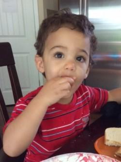 Hayden eating