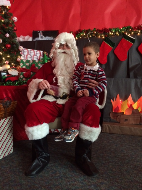 Hayden and Santa